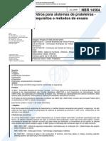NBR 14564 - Vidros Para Sistemas de Prateleiras - Requisitos E Metodos de Ensaio