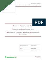 Ejemplo de Certificacion Pruebas FAT 2006