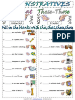 Demonstratives Pronouns This These That Those Worksheet 1