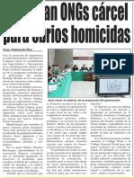 30-09-2014 Rechazan ONGs cárcel para ebrios homicidas