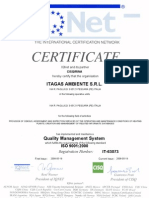 IQNet and Its Partner CISQ/RINA Hereby Certify That the Organisation