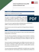 ASEAN Business Survey 2014 Participant Information Sheet