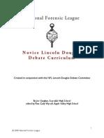 lincoln douglas - novice curriculum