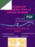 CUIDADOS DE ENFERMERÍA TRAS LA CIRUGÍA DE MAMA.ppt
