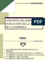 Evolucion Teoria Empresa