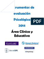 Catalogo Area Clinica y Educativa 2014