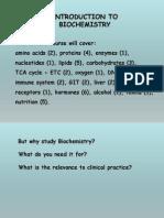 Introduction Biochem Fall 2014