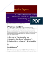 5. Epston, D. a. (1997). Format of Questions for Alternative Version