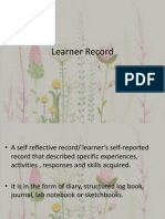 Learner Record T8