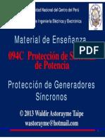 Unidad 8 - Protección de Generadores 2013