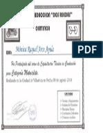 Certificado Auto Escuela - Moto