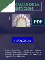 Anomalias Dentarias Pediatricas ... Expo Miercoles