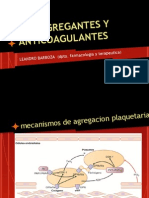 Anticoagulantes y Antiagregantes
