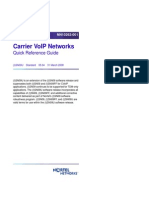 Carrier VoIP Networks Quick Reference