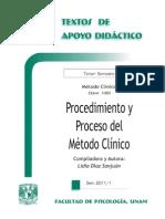 Procedimiento y Proceso del Método Clínico - UNAM.pdf