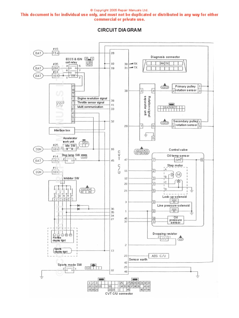 Nissan Serena Wiring Diagram Free Library 1994 Pathfinder Engine Cvt Throttle Electrical Components