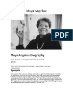 Maya Angelou Biography
