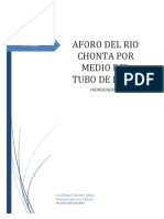 Informe Aforo Del Rio Chonta