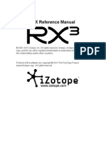 iZotope Rx3 Reference Manual