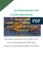 La necesidad de la Memoria Social para la Vida.pdf