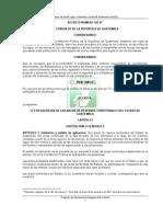 Ley Reguladora de Areas de Reservas Territoriales Del
