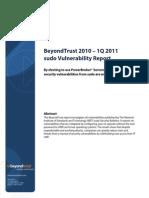 BT 2010 Sudo Vulnerability Analysis