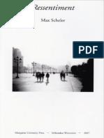 Ressentiment - Max Scheler