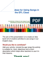 Creative Ideas for Using Songs.ppt