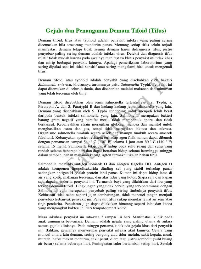 type demam tifoid pdfs file