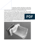 Investment Casting for Turbine Blades