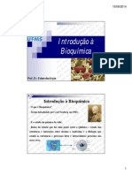 1. Introdução Bioquímica