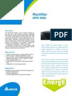 Fact Sheet DPR2900 Rectifier