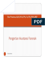 Forensic Accounting - Fraud Examination Sesi 1 Pengertian Akuntansi Forensik [Compatibility Mode]