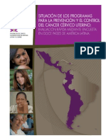 OPS SItuacion Programa Prevencion CCC 2011