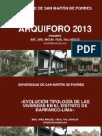 Evolucion Arquitectonica