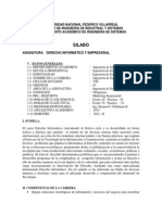 Silabo Derecho Informatico