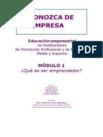 Modulo 1 - Que Es Ser Emprendedor