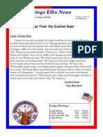 Sand Springs Elks October 2014 Newsletter