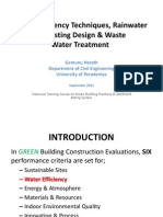 Water Efficiency Techniques, Rainwater Harvesting Design & Waste Water Treatment.ppt