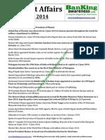 Current Affairs June 2014