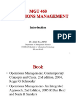 Operations management Chap 1 Introduction
