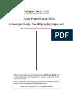 Cara Pendaftaran Milis Lowongan Kerja Excel