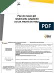 Plan de Mejora 2013 San Antonio de Padua