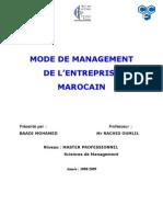 Mode de Management