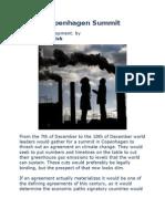 Copenhagen Summit - Climate of Development