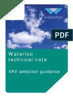 VAV Selection Guidance