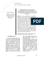 Improvement of End-user Experience by Development of Pre- And Post-processing Solution for Fem Magnetostatic Solver Pak-m