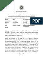 Mphil Notice 2014
