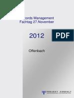 [DE] Tagungsband Records Management 2012