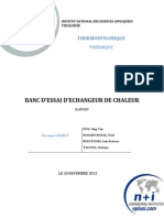 Rapport (Echangeur de Chaleur)